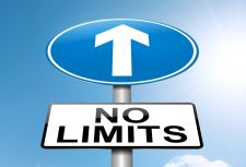 "Street sign reading ""no limits"""