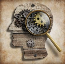 Picture of brain with gears