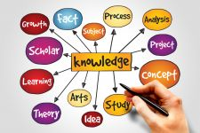 Drawing of knowledge and learning concepts