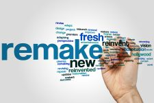"Wordle showing words like ""remake"" and ""new"""