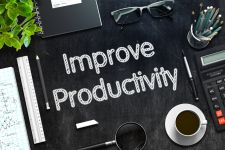 """Improve Productivity"" written on chalkboard"